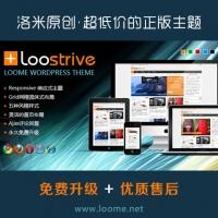 洛米原创wordpress瀑布流手机杂志电影主题Loostrive 1.3.2最新